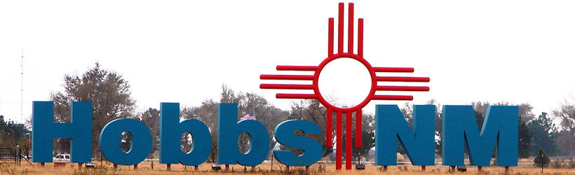 Hobbs Welcome Sign